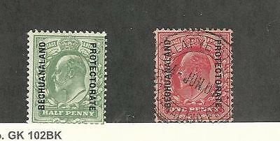 Bechuanaland, Postage Stamp, #80 Mint Hinged, 82 Used, 1908-12