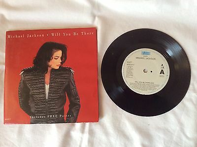 """Michael Jackson Will You Be There 7"""" Single Poster"""