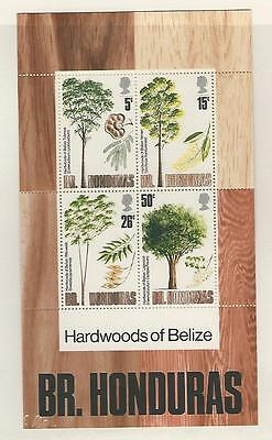 Belize, Postage Stamp, #286a Mint NH Sheet, 1971 Trees