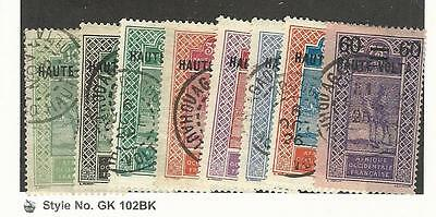 Burkina Faso, Postage Stamp, #7//32 (8 Different) Used, 1922-8 Nice Cancels
