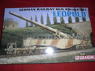 DRAGON® 6200 1:35 GERMAN RAILWAY GUN 28cm K5(E) LEOPOLD NEU OVP