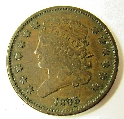 1835 Half Cent Classic Head Coin - 1/2 Cent