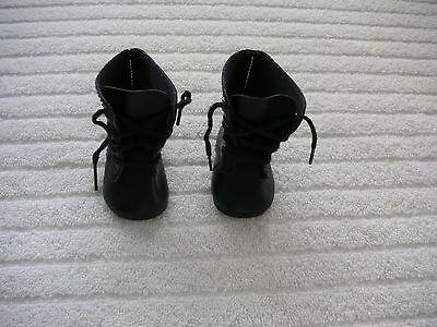 American Girl Kirsten's Black Lace Up Boots. New/retired