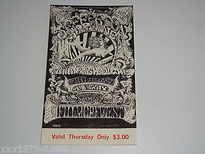 JEFFERSON AIRPLANE Ballet Afro 1968 VINTAGE TICKET Bill Graham Fillmore BG142