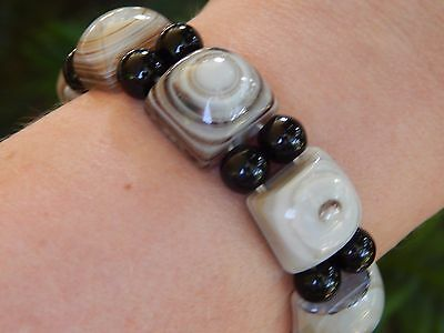 Vintage Scottish Agate Genuine Stone Bracelet