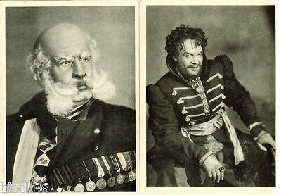 1946 Photos of Soviet actors N.I.RYZHOV and N.N.RYBNIKOV in scenic costumes
