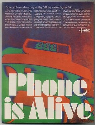 1968 'Phone is Alive' dramatic photo Bell Telephone ad