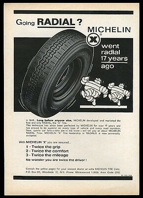 1966 Michelin Man Bibendum tires art local NYC area vintage print ad