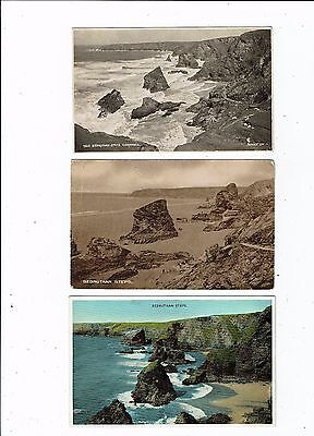 Cornish Post Card Three Cards Of Bedruthen Steps