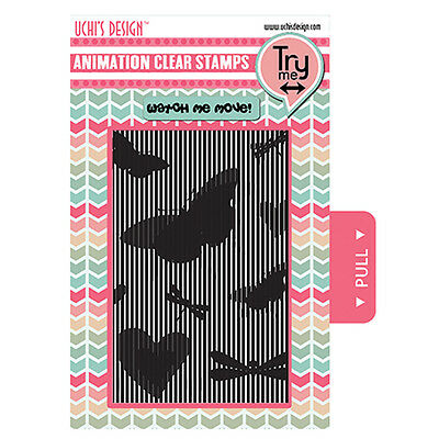 Uchi's Design BUTTERFLIES Animation Clear Photopolymer Stamps UDSTP004