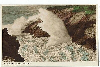 Cornish Post Card The Blowing Hole, Newquay