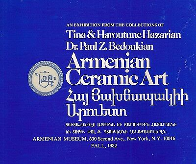 Bedoukian Hazarian Armenian Ceramic Art Exhibition Pottery Booklet