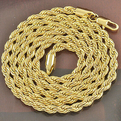 """24"""" Rope Chain Mens Womens 9K Gold Filled,F2641"""