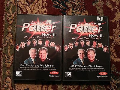 Bob Proctor & Vic Johnson CLAIM YOUR POWER NOW III 2 DVD Set