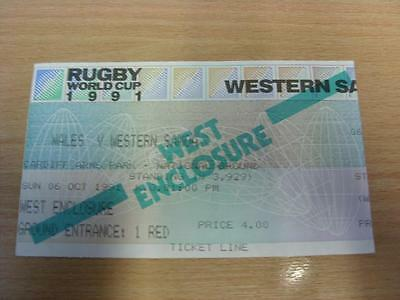 06/10/1991 Rugby World Cup 1991 - Wales v Western Samoa [At Cardiff Arms Park] [
