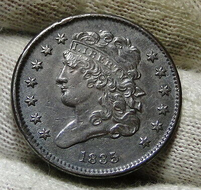 1835 Classic Head Half Cent - Nice Coin- Only 398,000 Minted (5943)