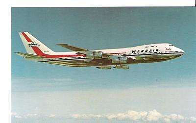 62)  Postcard - Aviation - Airplane - Wardair Boeing 747 - unused
