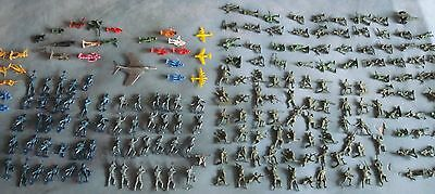 Vintage MARX / MPC / Tim-ee Toy Plastic ARMY Figures Lot W/ One Cannon / One Jet
