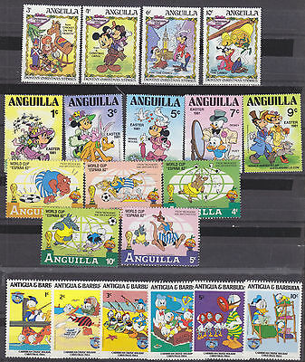 Starter Collection!  200 Different Disney Stamps - Mint - See 9 Scans