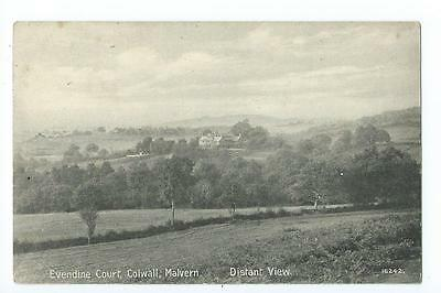 Herefordshire printed distant view  Evendine Court ,Colwall @ 1912