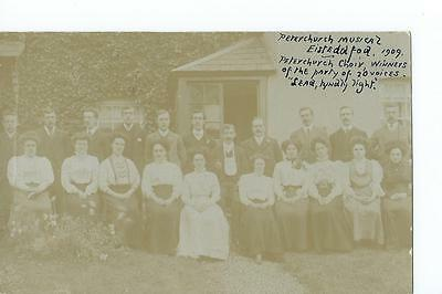 Herefordshire RP by Palin showing the Peterchurch musical Eisteddfod choir 1909