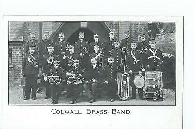 Herefordshire printed view of Colwall Brass Band @1910
