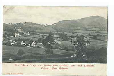 Herefordshire printed PPC by Tilley & Son of British Camp from Evendine Colwall