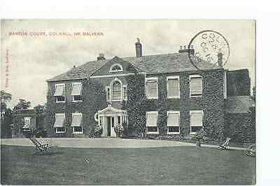 Herefordshire printed PPC by Tilley & Son of Barton Court  Colwall PU 1905