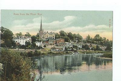 Herefordshire printed view by Peacock of Ross from the river @1910