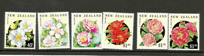 MINT 1992 NEW ZEALAND NZ FLOWERS COMPLETE STAMP SET of 6 MUH FV $6.05