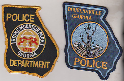 Stone Mountain Park & GA Police State shaped patch