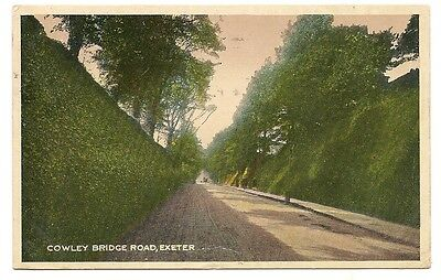 Old Postcard-EXETER-COWLEY BRIDGE ROAD-Devon-Uk-by Woolstone Bros.