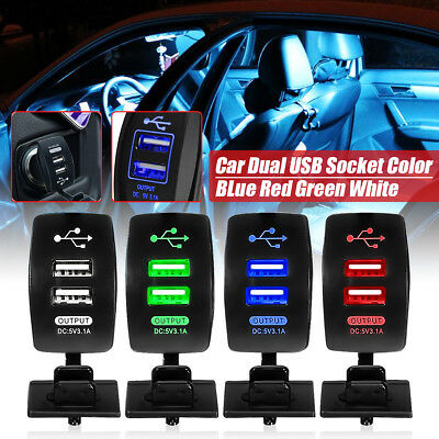 Dual USB Car Charger Universal 12V Twin Port In Car Socket Charger Adapter Plug