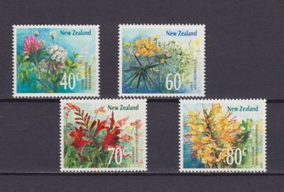 Mint 1989 New Zealand Nz Wildflowers Complete Stamp Set Of 4 Muh