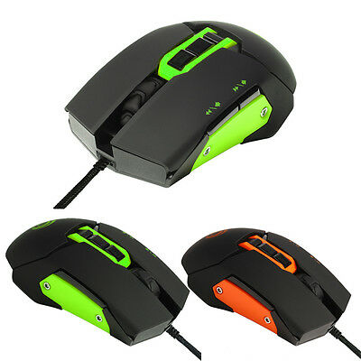 3200DPI Wired Gaming Mouse Optical Adjustable 7D Button Game Mice for Laptop PC