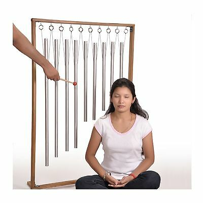 9 Sacred Solfeggio Pipes louder than tuning forks with ready-to-assemble stand