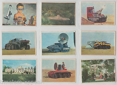 1966 Somportex Thunderbirds Colour Series Bubblegum Trading Card 73 Complete Set
