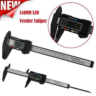 150MM 6 inch LCD Digital Electronic Vernier Caliper Gauge Micrometer Accuracy
