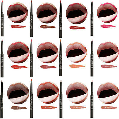 19 Colors Semi Permanent Lip Liner Pen Stain Waterproof Long Lasting All Shades