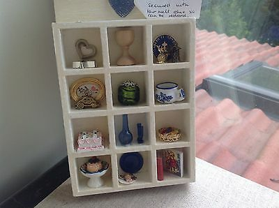 Dolls House Miniatures Display Box