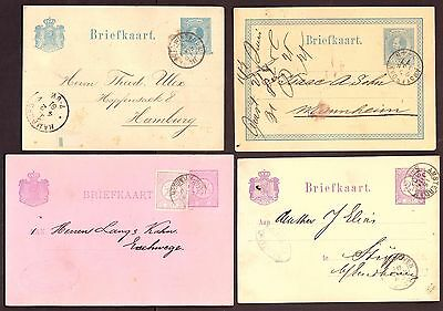 Netherlands: Postal Stationery Pre Paid Cards (2)  1891 - Both Up-rated.