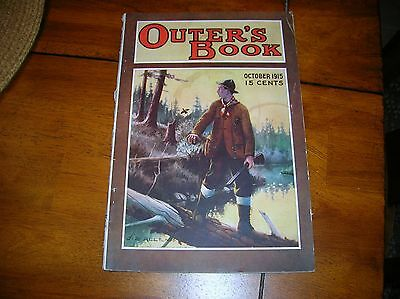 Vintage 1915 Outer's Book Magazine Hunting Fishing Outdoor Sporting October '15