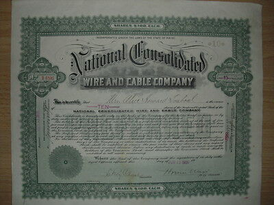 National Consolidated Wire and Cable Company  1906