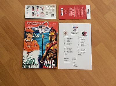 Blackpool V Exeter Play Off Final Plus Teamsheet And Wembley Suite Tickets