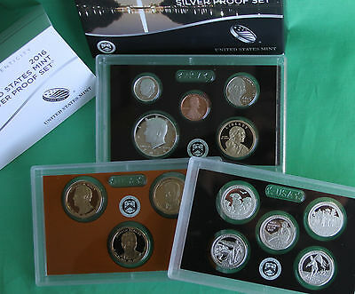 2016 S Annual US Mint SILVER Proof Set 13 Coin Complete with US Mint Box and COA