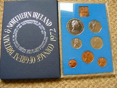 1972 ROYAL MINT UK Proof Coin Set Lot#1