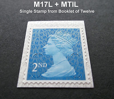 NEW JUNE 2017 2nd Class M17L + MTIL MACHIN SINGLE STAMP from Booklet