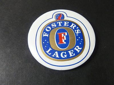 AUSTRALIA's FOSTER'S LAGER 1980's PIN BACK BUTTON 2 1/4''