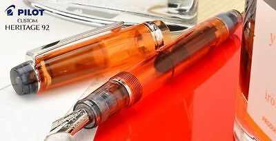[Broad nib] Pilot NAMIKI Custom Heritage 92 Fountain Pen 14K Demonstrator Orange