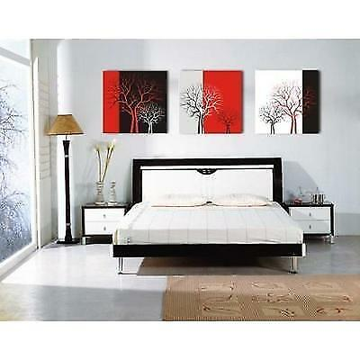 Mon Art Canvas Wall Art Modern Home Decor Red and Black and White Abstract Trees
